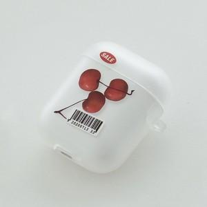【t.e.a】cherry / airpods 1/2 エアポッズ エアーポッズ 第1世代 第2世代 ケース カバー チェリー 韓国雑貨