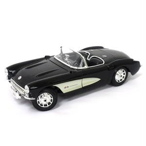 Maisto ミニカー 1:18 1957 シボレーコルベット ブラック No.200-111
