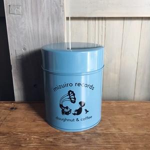 この水色残り僅か。水色レコード オリジナル コーヒー 缶(水色)