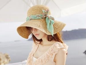 【つば広麦わら帽子】ファッション小物 帽子 麦わら帽子 つば広 ハット リゾート ビーチ UVカット 女優帽 レディース帽子 ストローハット 春 夏 ペーパーハット 紫外線 UV対策