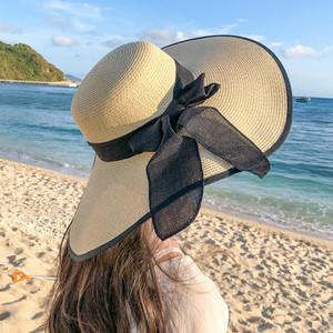 【小物】デート定番合わせやすい日焼け止めエレガント帽子20277325
