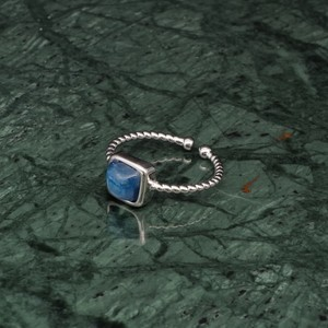 SINGLE MINI STONE RING SILVER 023