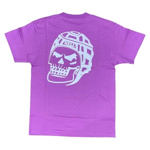 RUGBY SKULL Back Print T-Shirt Purple