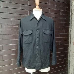 Pendleton Wool Open Collar Shirt Black ペンドルトン ウール 開襟 シャツ ブラック