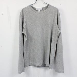 COMME des GARCONS SHIRT / コムデギャルソンシャツ | クルーネックコットンロングTシャツ | S | グレー | メンズ