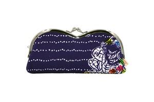 帆布×インクジェットプリント・山型眼鏡ケース・ねぶた祭り・日本製