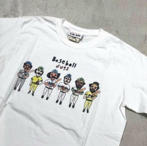 chi-bee - Baseball Nuts - Tシャツ - ホワイト