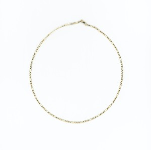 【14K-3-5】16inch 14K gold FIGARO chain necklace