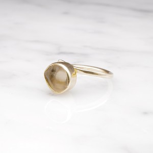 ROUGH STONE RING GOLD 009