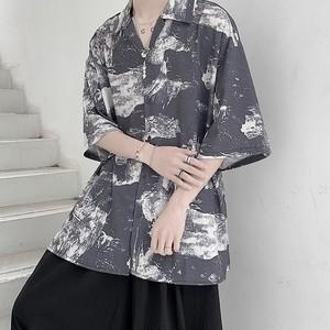 アート開襟シャツ BL6198