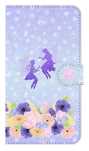 【鏡付き Mサイズ】Fairy Magic フェアリー・マジック 手帳型スマホケース