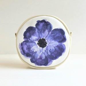 ブルーガーデン サークルポーチ 花柄 新色ブルーB