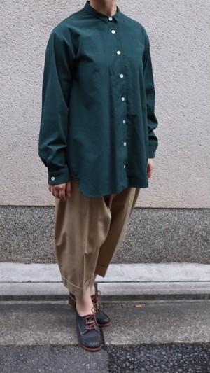 susuri/ススリ ヘムレンシャツ bottole green#19-356