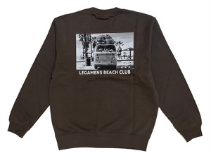【graphic car sweat】/ charcoal gray