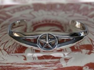 Triangle Wire Star Bangle -Wide-