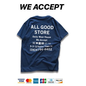ALL GOOD STORE | We Accept T-Shirt / Blue