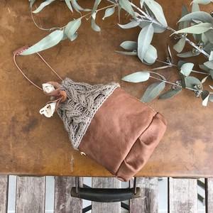 Muffin / cotton knit mini bag no.1