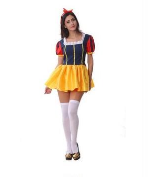 白雪姫風 衣装 大人 コスプレ グッズ プリンセス 仮装 ドレス めいど 変装 vuab135