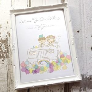 【ウエルカムボード】Hawaii wedding