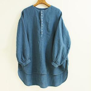 BROCANTE ブロカント カンパーニュシャツ 36-172L リネンキャンバスプルオーバーシャツ