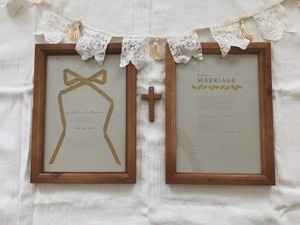 【 order 】Wedding wreath design 結婚証明書 { A4 }