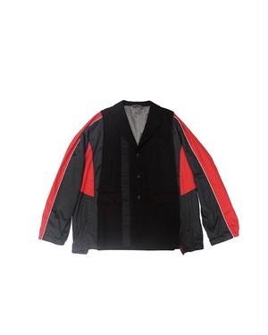 remake nylon docking jacket① (red×black)