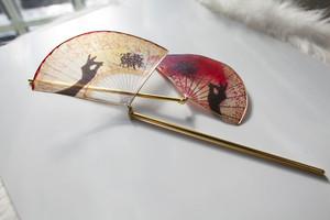 【妖簪・仙女の箱】fox-k2 (狐火)扇赤