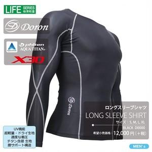 LIFE Men's ロングスリーブシャツ Black ¥12,000(+Tax) ¥ 13,200