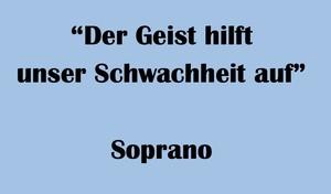 """ソプラノ用 """"Der Geist hilft unser Schwachheit auf"""" BWV 226 Karaoke for Soprano"""