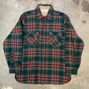 70's Woolrich check pattern cpo shirts
