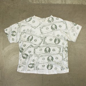 90's 100 Dollar Bill Printed S/S T-Shirt
