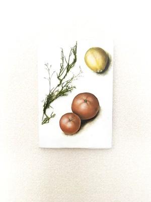 Lemon,orange and rosemary painting アートドライフラワー 絵画 Interior paintings