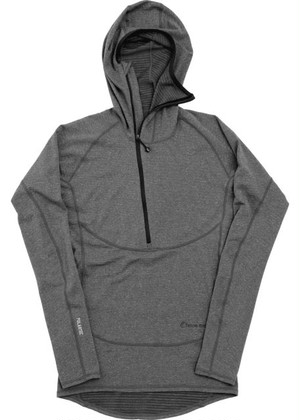 【Teton Bros.】 Power Wool Grid Hoody (Ganmetal) (ガンメタ)