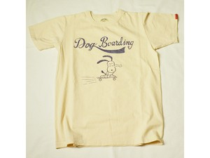 スマートスパイスDOG BORDING PRINT T-SHIRTS STRAW