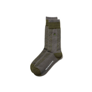 TILED MIDDLE SOCKS - GREEN