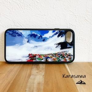 涸沢カール 強化ガラス iphone Galaxy スマホケース アウトドア 登山 山