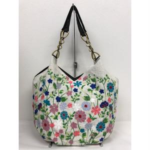 ベトナムバッグ 刺繍 ビーズ チェーン トートバッグ 肩掛け 鞄 ベトナム雑貨