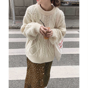 New color追加◎5color : Loose Aran Knit 送料無料 137