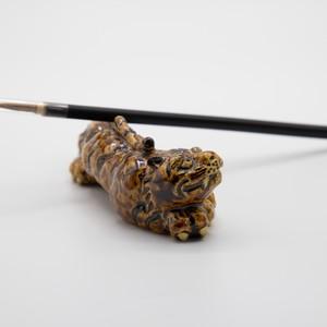 虎の筆置き