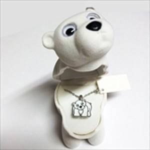 【白くま 】Wildlife Garden アニマルペンダント 愛しい ベロアボックス ♡ ユニークな動物たち ペンダント 40cm アジャスタ付