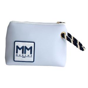 muta MARINE×bonfanti/ボンディング/クラッチ/バッグ/ホワイト
