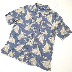 Polo by Ralph Lauren ラルフローレン ヨット柄 アロハシャツ 半袖 ボタンシャツ 大きいサイズ