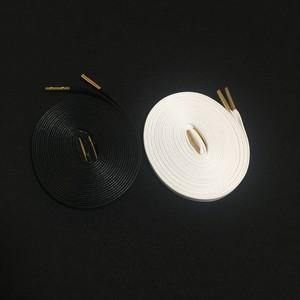 WAXED SHOELACE 2P (BLACK-WHITE/gold)