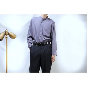 purple band collar shirts