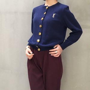 Yves Saint Laurent navy knit cardigan