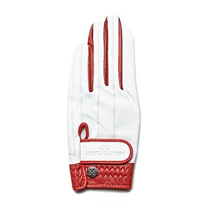 【Ladies】 Elegant Glove white-red <左手>