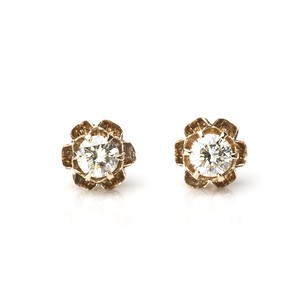 Antique Buttercup Diamond Earrings
