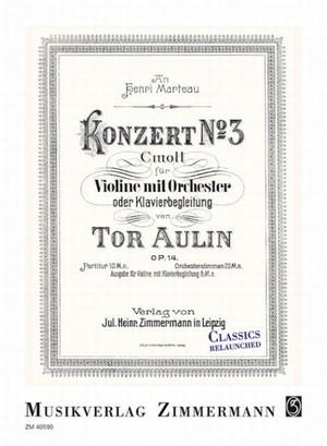オーリン:ヴァイオリン協奏曲 第3番 Op.14 / ヴァイオリン・ピアノ