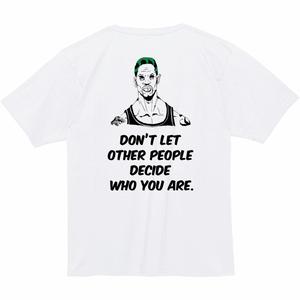 DUB RIM WHO YOU ARE スーパーヘビーウェイトTシャツ/ホワイト×グリーン