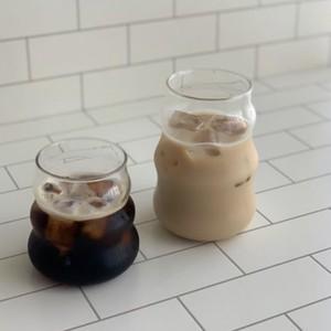 wave glass cup 2size / ウェーブ グラス コップ おうちカフェ 耐熱 韓国 北欧 インテリア 雑貨